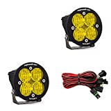 Baja Designs Squadron-R Sport Pair ATV LED Light Wide Cornering Amber Pattern