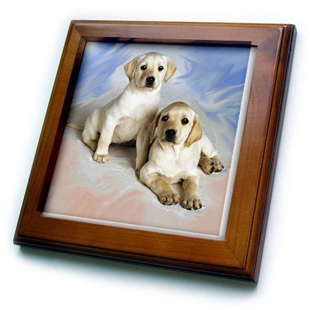 (3dRose ft_4027_1 Labrador Retriever Framed Tile, 8 by 8-Inch)