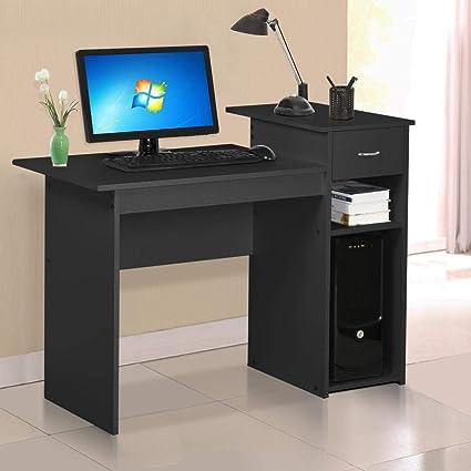 amazon com yaheetech home office small wood computer desk with rh amazon com computer desks for small spaces uk computer desk for small spaces canada