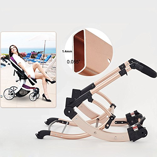AIMILE Newborn Baby Pram Infant Foldable Anti-shock High View Jogger Stroller Multi-Positon Reclining Seat Stroller Pushchair(Grey) by OLizee (Image #5)
