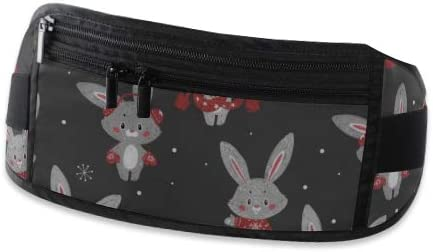 Pattern Cute Bunny Scarf Running Lumbar Pack For Travel Outdoor Sports Walking Travel Waist Pack,travel Pocket With Adjustable Belt