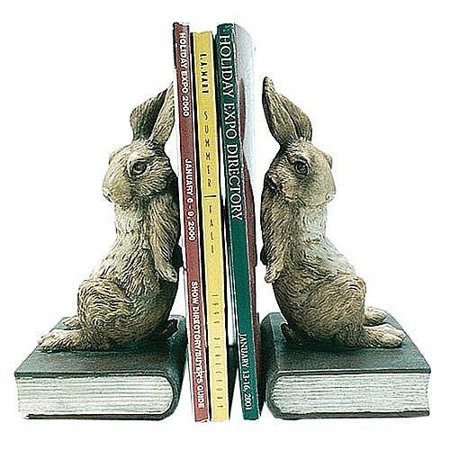 Pushing Bookends - Pushing Bunny Rabbit Bookends 8