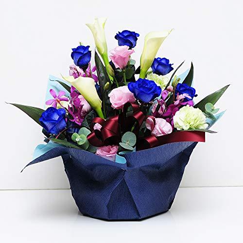 青いバラのアレンジメント ブルーダイヤモンド ブルーローズ アレンジメント B004OMNZLG