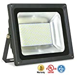 ASD LED Floodlight 100W SMD Outdoor Landscape Security Waterproof UL Listed 4000K (Bright White)