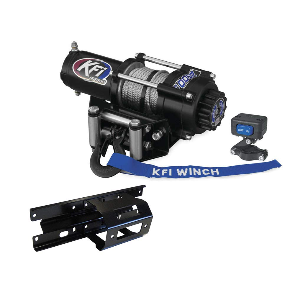 A2500R2 Winch /& Winch Mount 2005-2010 Polaris Sportsman 400 500 600 700 800 KFI Combo Kit