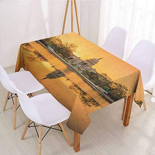 ScottDecor Fabric Tablecloth Rectangular Polyester Tablecloth W 52