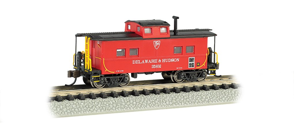 Bachmann Industries Northeast Steel Caboose Delaware and Hudson Train Car, N Scale by Bachmann Trains (Image #1)