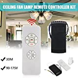 110V Universal Ceiling Fan Remote Control Kit Timing Wireless Transmitter & Receiver for Home/Office/Hotel/the Club/Display Hall/Restaurant