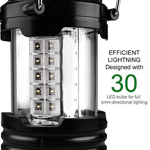 Airsspu-Camping-LanternOutdoor-LED-Lantern-Flashlights-Water-Resistant-Home-Garden-Portable-for-Hiking-Emergencies-Hurricanes-Black2Pack