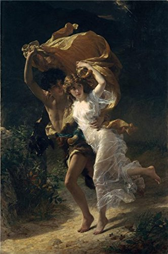 The High Quality Polyster Canvas Of Oil Painting 'Pierre Auguste Cot-The Storm,1880' ,size: 24x36 Inch / 61x92 Cm ,this Replica Art DecorativeCanvas Prints Is Fit For Foyer Artwork And Home Gallery Art And Gifts