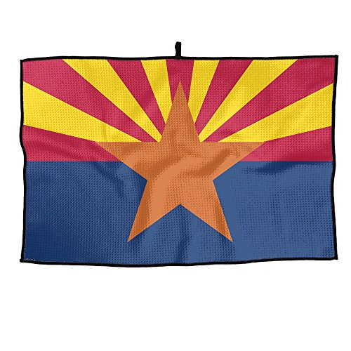 (EASON-G Arizona State Flag Golf Towel Microfiber Gym Sports Towels)