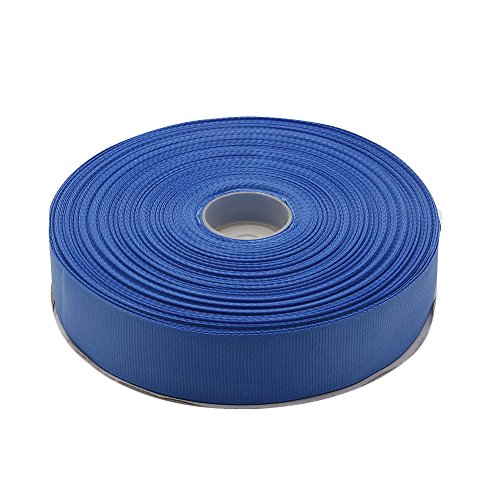 Polyester Grosgrain Ribbon - Topenca Supplies 1 Inches x 50 Yards Double Face Solid Grosgrain Ribbon Roll, Blue
