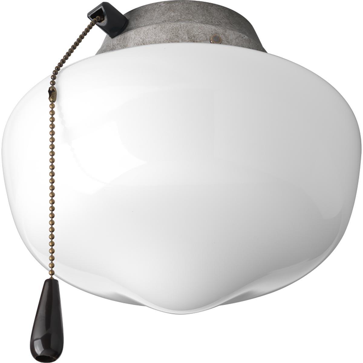 Progress Lighting P2601-141WB Fan Light Kit, Galvanized Finish