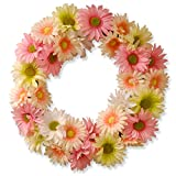 National Tree 19 Inch Floral Wreath with Pink and White Mixed Flowers (GAC30-19WP)