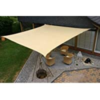 Modern Home Sail Shade Rectangle (20 x 20) - Beige
