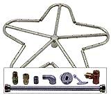 Spotix Penta HPC Match Lit Fire Pit Burner Kit, 18-Inch Burner, Natural Gas, Polished Chrome