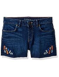 Calvin Klein Pantalones Cortos de Mezclilla Cortados para Novio para niñas pequeñas