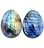 00 gauge teardrop plugs - TOPBRIGHT Pair of Labradorite Stone Teardrop Plugs Earring Gauges Organic Flesh Ear Tunnels Expander