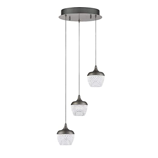 Amazon.com: Kendal Lighting Inc. PF91-3LPA-BKS Arika LED ...