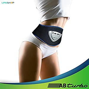 ABTurbo Hypertech Abdominal Trainer by LifeShop - 3D Faradic Current for Advanced Muscle Flex Technology Workout Enhancement Kit - Get Six Pack Abs in 4 to 8 Weeks Without Breaking a Sweat by LifeShop USA