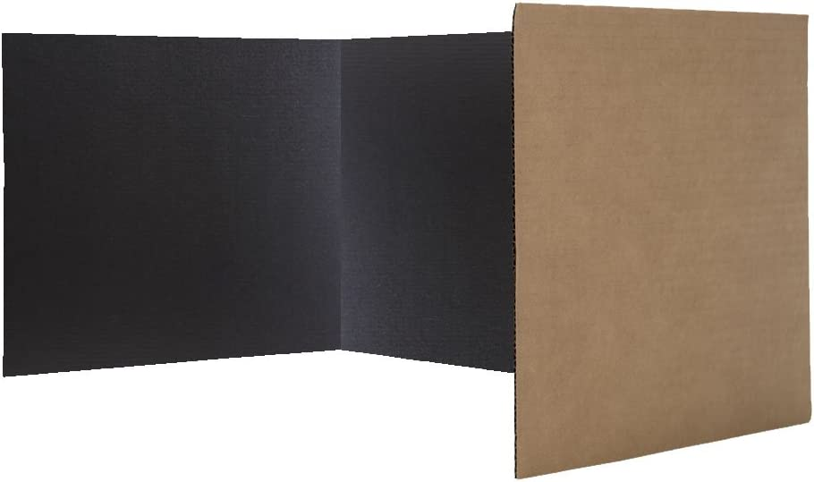 Flipside Products Economical Study Carrel Black Corrugated Pack of 24 (18222)