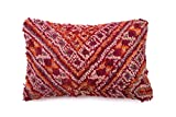 Moroccan Pillow Cushion Cover, Berber Handmade, refashioned from a Vintage Moroccan Rug, Hand Crafted in Morocco's High Atlas Mountains, 23'' x 16'', CVR130