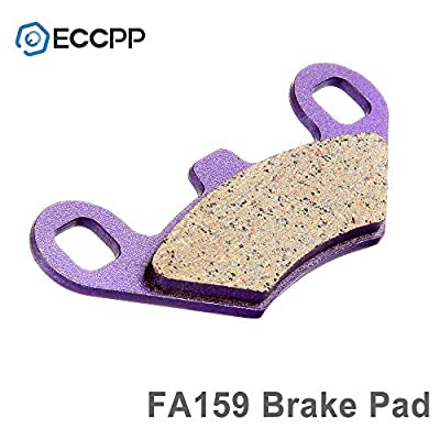 ECCPP FA159 Brake Pads Front Rear Carbon Fiber Replacement Brake Pads Kits Fit for Polaris 300,400L,Big Boss,Diesel,Magnum,Ranger,RZR,Scrambler,Sport: Automotive