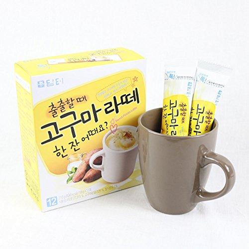 DAMTUH Rich Sweet Potato Latte, Instant Milk Tea with Sweet Potato Blend, Meal Replacement, 12 Sticks