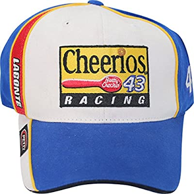 Bobby Labonte #43 Petty Enterprises Cheerios Vintage Racing Adult Adjustable Cap Hat from Checkered Flag Sports