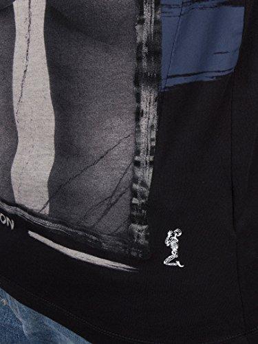 Religion Hombre Bloqueado y cargado Camiseta estampada, Negro Negro