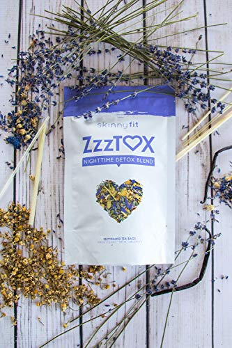SkinnyFit ZzzTox Nighttime Detox Tea: Caffeine-Free, All-Natural, Laxative-Free, Chamomile, Lavender, Vegan, Non-GMO, Gluten-Free, 28 Servings - Release Toxins Before Bedtime for a Restful Sleep by SkinnyFit (Image #5)