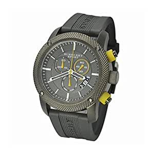 BURBERRY BU7713 - Reloj para hombres, correa de goma color gris