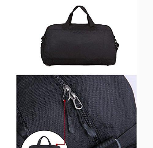 LAIDAYE La Bolsa De Mensajero Bolsa De Hombro Portátil Bolsa De Viaje De Fitness Ocio Bolsa De Deporte Bolsa De Gimnasio Bolso De Gran Capacidad Black