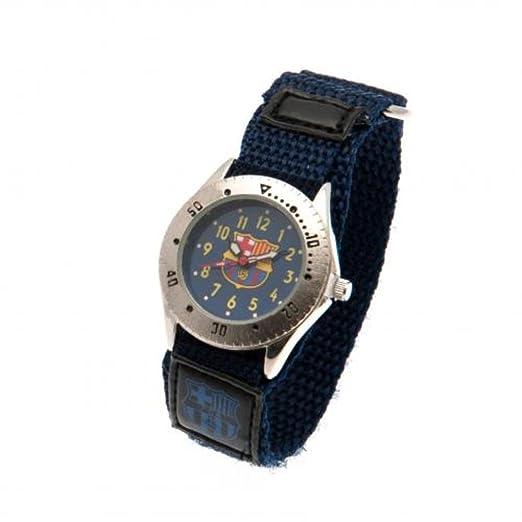 -Reloj del FC Barcelona, color azul: Amazon.es: Relojes