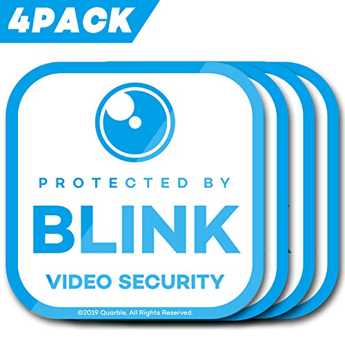Waterproof Window Decals for Blink XT Camera Home Security System-4pack (Blue)