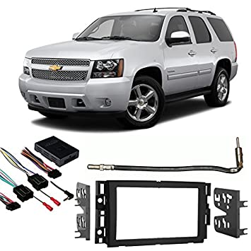 51nfkJlbUPL._SY355_ amazon com fits chevy tahoe 2007 2014 double din stereo harness 2001 tahoe radio wire harness at honlapkeszites.co
