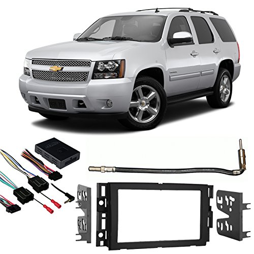 Compatible with Chevy Tahoe 2007-2014 Double DIN Stereo Harness Radio Install Dash Kit (Challenger Radio)