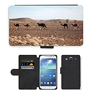 Hot Style Cell Phone Card Slot PU Leather Wallet Case // M00109200 Morocco Africa Desert Marroc Sand // Samsung Galaxy S3 S III SIII i9300