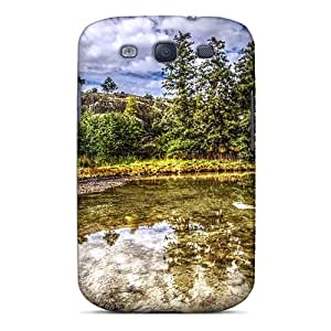 Top Quality Protection Crystal Lake Hdr Case Cover For Galaxy S3