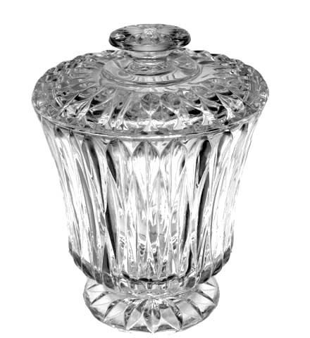 Chalet Handcut Crystal Cookie Jar, 2 Quart