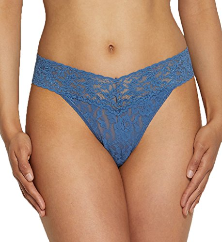 Hanky Panky Signature Lace Original Rise Thong Panty, storm cloud blue