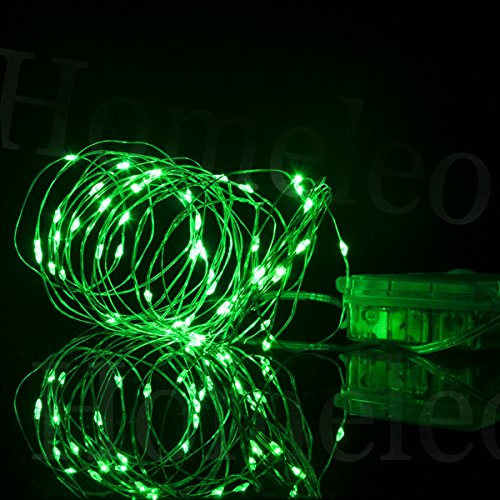 Homeleo 5M 50LEDS Battery Operated Remote Contol LED String Lights Flexible Silver Wire Light ...