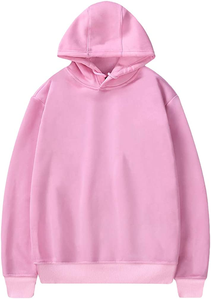 YiiJee Unisex Lightweight Traspirante Felpe con Cappuccio Tinta Unita Moda Hooded Felpa Coulisse Pullover Tops per Autunno Invernale