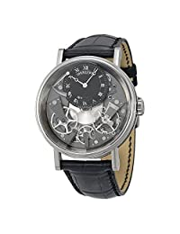 Breguet Tradition 18kt White Gold Black Leather Mens Watch 7057BBG99W6
