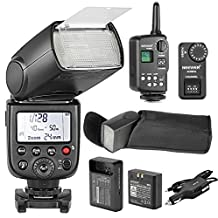 NEEWER® TT850 *LI-ION BATTERY* Flash Speedlite With FT-16S Wireless Flash Trigger And LI-ION BATTERY Car Charger For Canon, Nikon, Sony, Pentax, Olympus and all other SLR DSLR CAMERAS Professional Photography