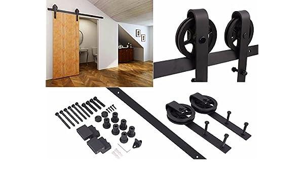 HERRAJE PUERTA CORREDERA RUSTICA GRAND 2000MM: Amazon.es: Bricolaje y herramientas