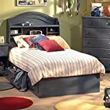 Summer Breeze Collection Twin Bed with Storage - Platform Bed with 3 Drawers - Blueberry by South Shore