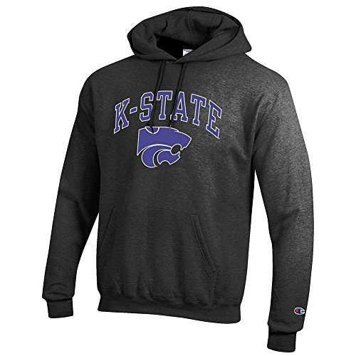 Elite Fan Shop Kansas State Wildcats Hooded Sweatshirt Varsity Charcoal - M - Kansas Hooded Sweatshirt