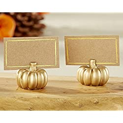 102 Gold Pumpkin Place Card Holders