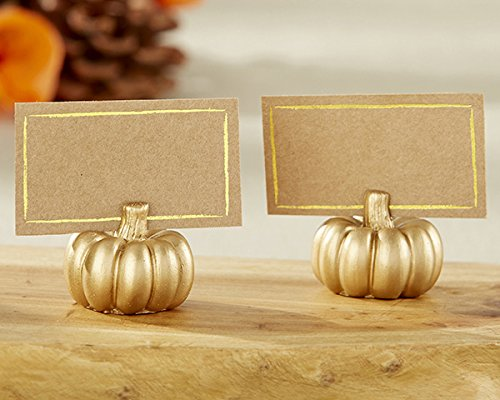 Kate Aspen 102 Resin Gold Pumpkin Place Card Holder Wedding Thank-You Gifts Baby Bridal Shower Table Décor Decorations Party Souvenir Favors by Kate Aspen (Image #3)